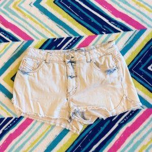Denim shorts Mossimo acid wash cutoffs womens 9